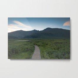 Bridge to the Mountain Metal Print