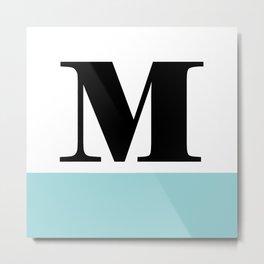 Monogram Letter M-Pantone-Limpet Shell Metal Print