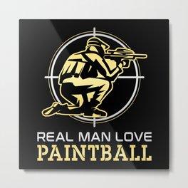 Paintball Airsoft Painter Gotcha Softair Gift Idea Metal Print