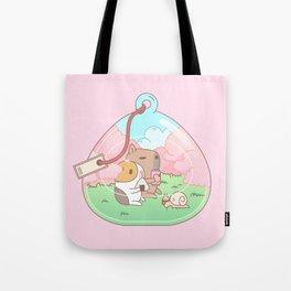 Bubu the Guinea pig, Cherry Blossom Terrarium Tote Bag