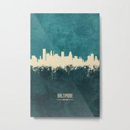 Baltimore Maryland Skyline Metal Print