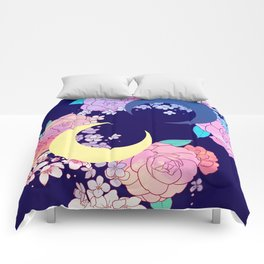 Floral Moon Comforters