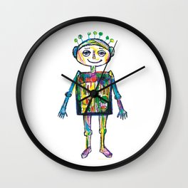 Little robot Wall Clock