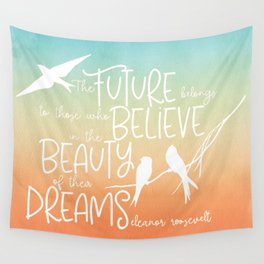 Beauty of Dreams - sunset colors Wall Tapestry