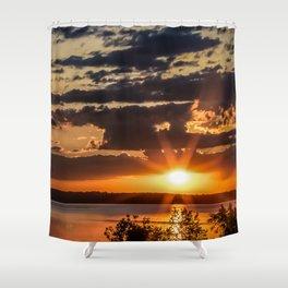 Another Fish Hook Lake sunrise Shower Curtain