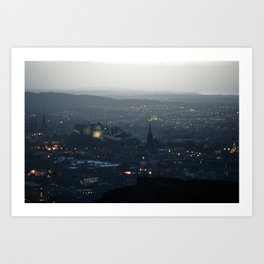 Edinburgh, by Night Art Print