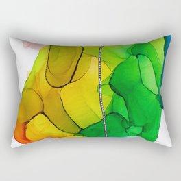 Fiesta Ink Abstract Rectangular Pillow