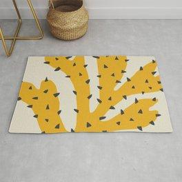 Matisse Inspired Yellow Shape Rug