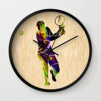 tennis Wall Clocks featuring Tennis by marvinblaine