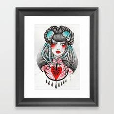 Love is so far. Framed Art Print