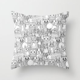 crazy cross stitch critters Throw Pillow