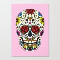 sugar skull Canvas Prints featuring Sugar Skull by Jade Boylan
