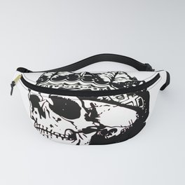Skull with a Crown Fanny Pack
