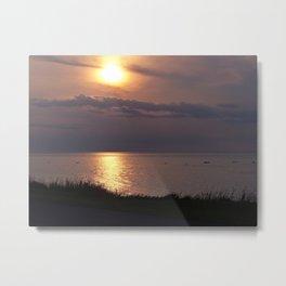 Sunset Reflected Metal Print
