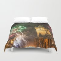 fireworks Duvet Covers featuring Fireworks 1 by Veronika