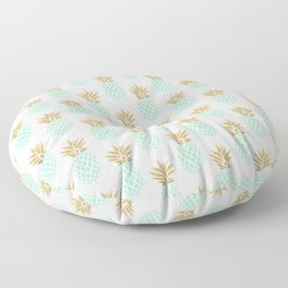 Elegant faux gold tropical pineapple pattern Floor Pillow