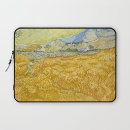 "Vincent van Gogh ""Wheat Field behind Saint Paul Hospital with a Reaper"" Laptop Sleeve"