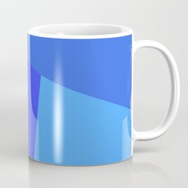 dégradé trapèze bleu roi Coffee Mug
