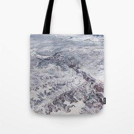 North America winter landscape aerial shot Tote Bag