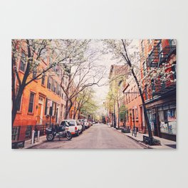 New York City - Springtime in the West Village Canvas Print