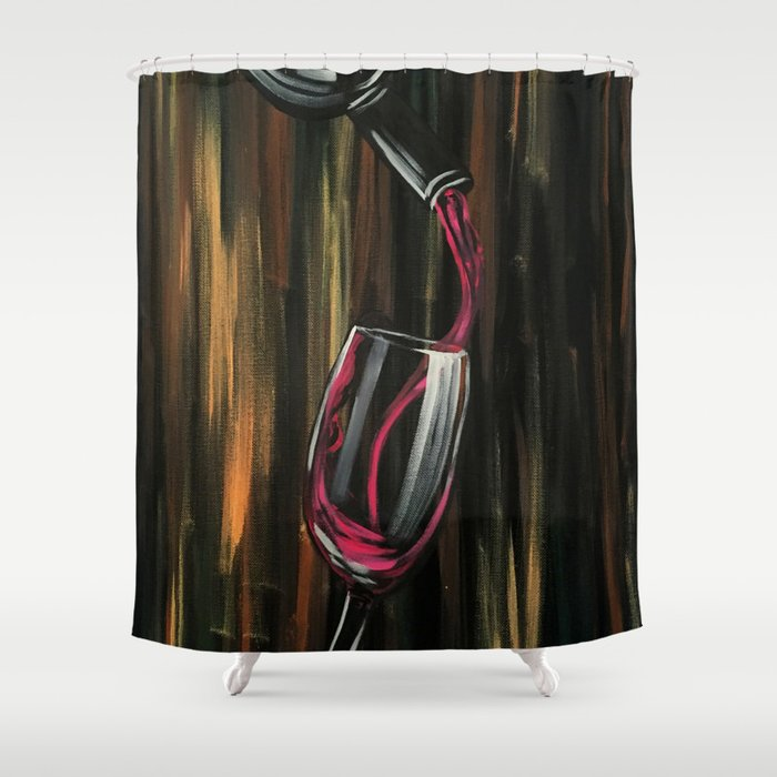 Fine Wine Shower Curtain By Adamzworld