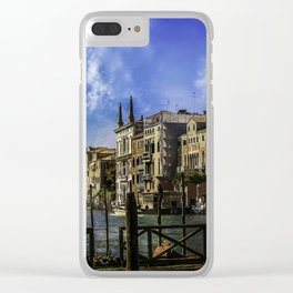Venitian Vacation Clear iPhone Case