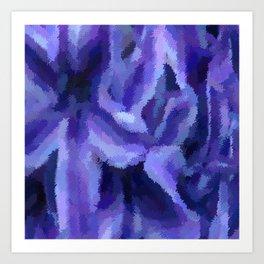 Purple Hibiscus Leaf Tapestry Print #1497 Art Print