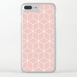 Cube Geometric 03 Pink Clear iPhone Case