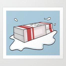 Spilt Milk Art Print