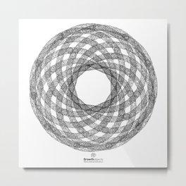 GEOMETRIC NATURE: HELIX w/b Metal Print
