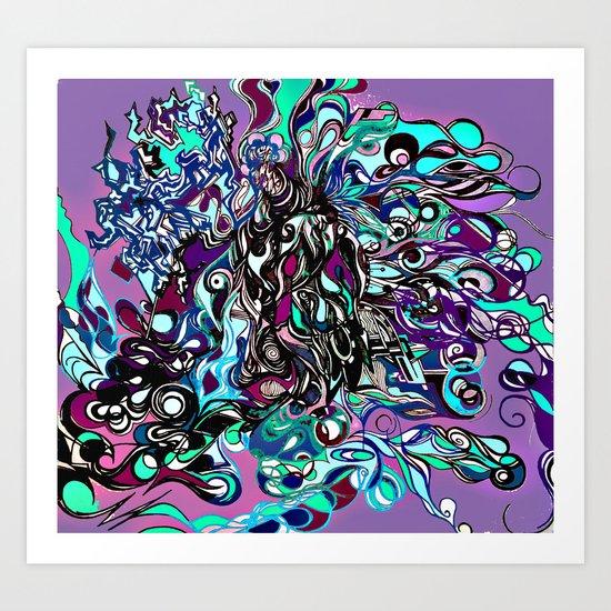 No Name Here Art Print