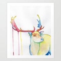 elk Art Prints featuring Elk by Eric Weiand