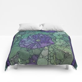 Percolated Purple Potato Flower Comforters