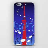 toronto iPhone & iPod Skins featuring Toronto by Maygen Kerrigan