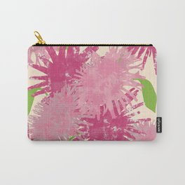 Abstract Pink Puffs Carry-All Pouch