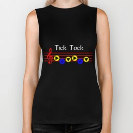 Tick Tock - Song Of Time (The Legend Of Zelda: Ocarina Of Time) Biker Tank