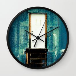 Single and White Wall Clock