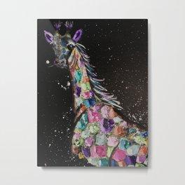 Mystical safari #1 Rainbow Giraffe Metal Print