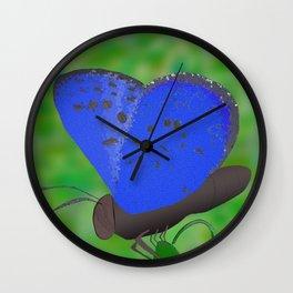 Karner Blue Butterfly Wall Clock
