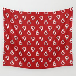 Red Piano Pattern Wall Tapestry