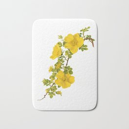 """Rosa Foetida by Alfred Parsons (part of """"The Genus Rosa,"""" published in 1914) Bath Mat"""