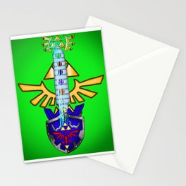 Zelda Guitar #1 - Hylian Shield & Master Sword (OoT) Stationery Cards