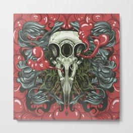 3 Eye Raven Metal Print