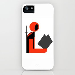Dead Gentleman Reads iPhone Case