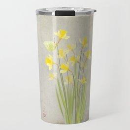 Daffodils and brimstone Travel Mug