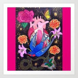 The Heart Is Held Art Print