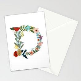 Monogram letter D Stationery Cards