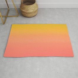 Coral to Gold Ombre Hombre Sunset Rug
