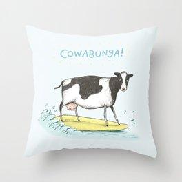 Cowabunga! Throw Pillow