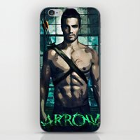 arrow iPhone & iPod Skins featuring Arrow by Christine DeLong Creative Studio